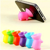 10 Colors Pink Purple Black White Red Blue Green Silicone Pig Cupula Phone Stand for all Phone iPhone 4 4s 5 Samsung HTC Blackberry iTOUCH