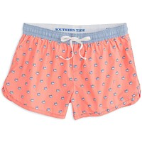 Women's Skipjack Lounge Short in Mai Tai by Southern Tide