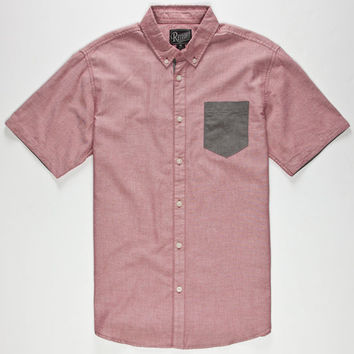 Retrofit Nathan Mens Shirt Red  In Sizes