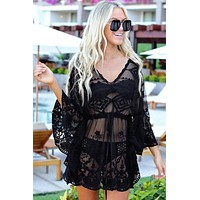 New Sexy Women's Beach Cover Up Lace Mesh Embroidery Bikini Cover Up Holiday Beach Dress thing Suit tunic Swimwear