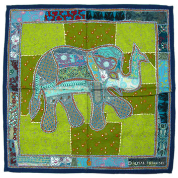 "40"" INDIAN ELEPHANT TAPESTRY WALL HANGING VINTAGE India Home Wall Decorative Art"