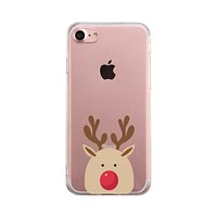 Rudolph Big Face Phone Case Cute Clear Phonecase