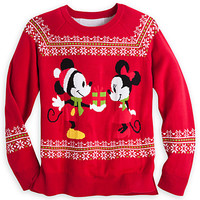Mickey and Minnie Mouse Holiday Sweater for Women