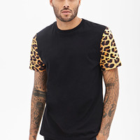 Cheetah Print Colorblock Tee
