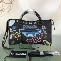 Balenciaga Women Men Print Crossbody Satchel Shoulder Bag