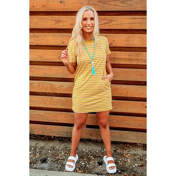 Driving Force Dress: Yellow/Ivory