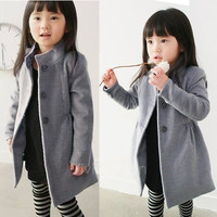Children's Clothing Girls Winter Coat Kid Jacket Thick Warm Trench Overcoat Cotton-padded VVF = 1930498884