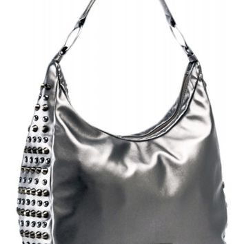 Rock Rebel Heavy Metal Hobo Bag - Gunmetal