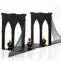 Bookends - Brooklyn bridge - black