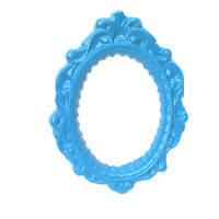 Teal Blue Picture Frame - Blue Painted Frame - Open Picture Frame - Small Teal Frame - Baroque Photo Frame,Whimsical Frame,Blue Wall Frame