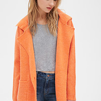 Collared Crossover Sweater Coat