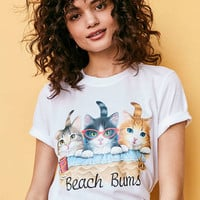 Silence + Noise Boardwalk Cat Tee - Urban Outfitters