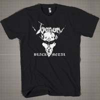 Venom Blak Metal  Mens and Women T-Shirt Available Color Black And White