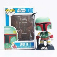 12cm Funko POP! Star Wars Boba Fett #08 PVC Action Figure Collectible Model Toy