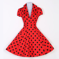 Last Century Vintage Rockabilly Retro Swing 50's 60's Pinup Housewife Prom Dress