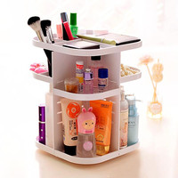 Korean Style Tabletop 360??Rotating Large Capacity Cosmetic Organizer Box