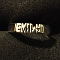 HAND Carved Name or Initials on Ring ( 925 Sterling Silver ) Personalized Ring