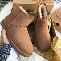 shosouvenir UGG Women male Fashion Wool Snow Boots