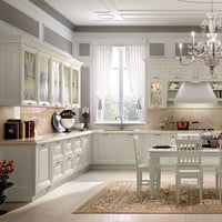Decapé kitchen with handles Pantheon Collection by Cucine Lube