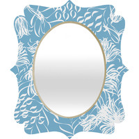 Vy La Cool Breezy Blue Quatrefoil Mirror