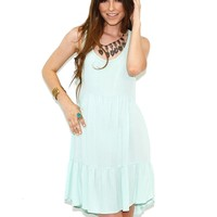 Tank Baby Doll Dress in Mint - Boutique To You