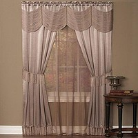 Ben&Jonah Collection Halley 6 Piece Window Curtain Set - 56x63 - Mauve
