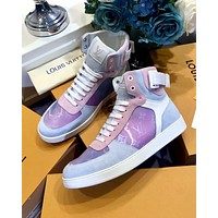 Inseva LV  new colorful high-top belt flat casual shoes