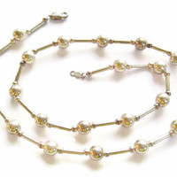 Sterling Bead Necklace by AIL 18 Inches