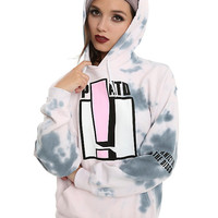 Panic! At The Disco Exclamation Pink Tie Dye Girls Hoodie