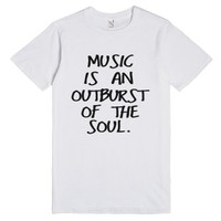 Music is an Outburst of the Soul T-Shirt (BLK