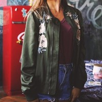 FLORAL BOMBERS JACKET