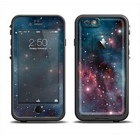 The Bright Pink Nebula Space Apple iPhone 6 LifeProof Fre Case Skin Set