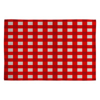 Holli Zollinger Red Gingham Woven Rug