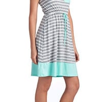 Deck Party Dress - Mint Stripes
