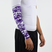 Digital ultra camo purple snow arm sleeve