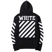 Trendsetter Off White Women Men Fashion Casual Top Sweater Pullover Hoodie
