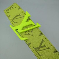 Louis Vuitton LV hot sale men's and women's printed alphabet letter buckle temperament belt belt