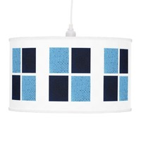 Windows In Baby Blue and Navy Lamp