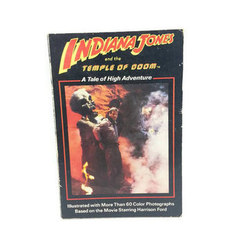 Vintage Indiana Jones and the Temple of Doom Paperback Book 1984