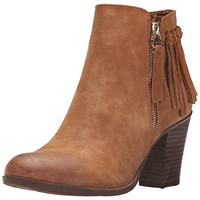 Call It Spring Womens Delin Leather Fringe Ankle Boots