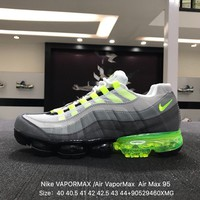Nike Air Max 95 Neonââ'?VAPOR MAX Gray Green Sports Running Shoes Sneaker