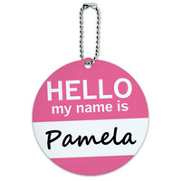 Pamela Hello My Name Is Round ID Card Luggage Tag