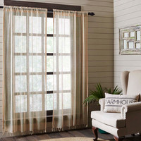 Natural Boucle Panel Curtains