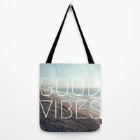 Good Vibes Cool Beach Tumblr Hipster Print Tote Bag by BigKidult | Society6