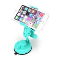 ihave ic0302 Universal 360 Rotates Cell Phone Car Holder Sucking Disk Stand Toucan Car Bracket (Blue)