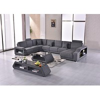 Contemporary Luxurious Interior Style Fabric Sectional Sofa Set