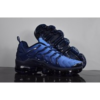 "2018 Nike Air Max Plus TN VM ""Blue&Black"" Vapormax Vapor Max Men Fashion Running Sneakers Sport Shoes"