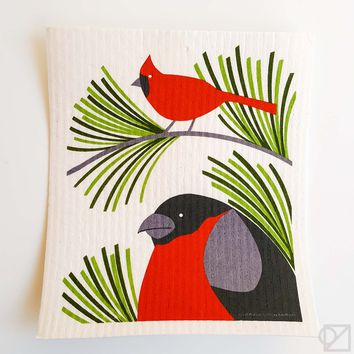 Swedish Dishcloth Backyard Birds