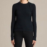 ALLSAINTS UK: Womens Gilli Laced Jumper (Ink Blue)