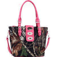 Mossy Oak® Adjustable Twist Lock Tote Bag Tote with Adjustable Removable Shoulder Strap